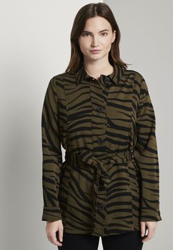mine to five TOM TAILOR - Zebra-Muster - Leichte Jacke - olive zebra design