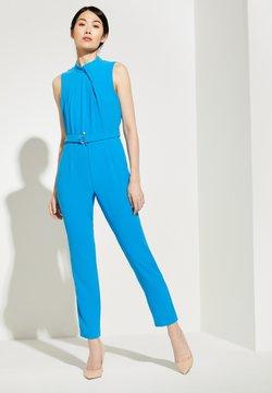 comma - MIT DRAPIERTEM AUSSCHNITT - Jumpsuit - horizon blue