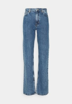 Monki - ELSIE SLIT TROUSERS - Jeans Straight Leg - thrift blue