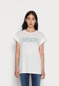 Moss Copenhagen - ALVA  SEASONAL TEE - T-Shirt print - egret/blue surf