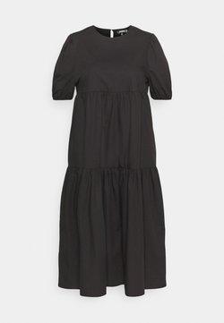 Missguided Plus - MIDAXI SMOCK DRESS - Maxikleid - black
