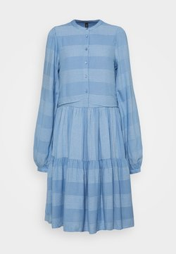YAS Tall - YASLAMALI SHIRT DRESS - Day dress - silver lake blue
