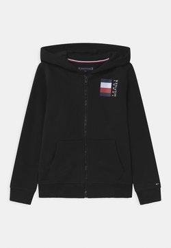 Tommy Hilfiger - GLOBAL STRIPE HOODED  - veste en sweat zippée - black