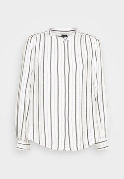 GAP Petite - SHIRRED - Hemdbluse - black white stripe