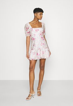 Forever New - HEATHER SQUARE NECK MINI DRESS - Korte jurk - rouge