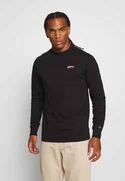 Tommy Jeans - TJM WASHED CORP LOGO CREW - Sweatshirt - black