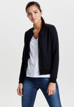 ONLY - ONLJOYCE - veste en sweat zippée - black