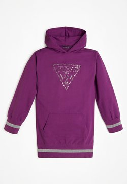 Guess - JUNIOR HOODED DRESS - Robe d'été - violett
