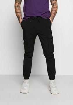 Jack & Jones - JJIGORDON JJFLAKE PANT - Cargo trousers - black