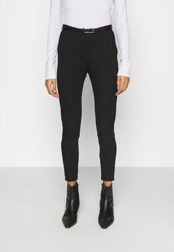 Anna Field - Punto Smart Trouser With Belt - Spodnie materiałowe - black