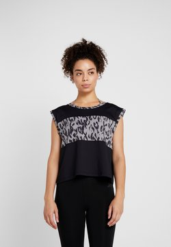 Curare Yogawear - WIDE BODY - Printtipaita - black