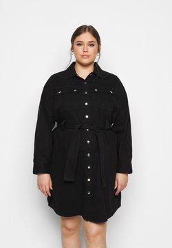 New Look Curves - SIMONE LONG SLEEVE DRESS - Jeanskleid - black