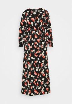 Missguided Plus - PLUNGE DRESS FLORAL - Freizeitkleid - red