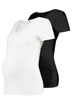 MAMALICIOUS - 2 PACK - T-shirt - bas - black/white
