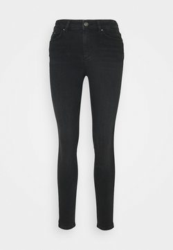 PIECES Tall - PCDELLY SKN MW - Jeans Skinny Fit - black