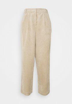 Moss Copenhagen - CHARIS JEPPI ANKLE PANTS - Pantalones - white pepper