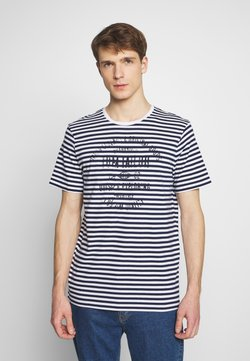 TOM TAILOR - T-shirt imprimé - black iris blue