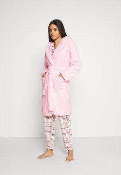 Loungeable - BUNNY SHERPA HOODED ROBE - Badjas - pink