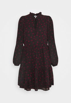VILA PETITE - VIPLISSEAMESY DRESS - Freizeitkleid - black