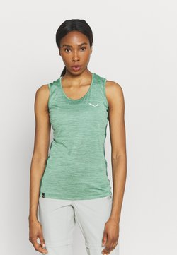 Salewa - PUEZ GRAPHIC DRY TANK - Camiseta de deporte - feldspar green melange