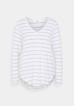 Cotton On - KARLY LONG SLEEVE  - Langarmshirt - white/grey marle