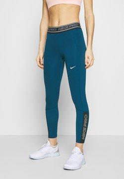 Nike Performance - TIGHT 7/8  - Tights - valerian blue/black/white
