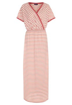 HotSquash - STRIPED MAXI DRESS - Maxikleid - coral/cream stripes