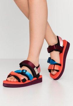 Scotch & Soda - LYDIA SPORT - Korkeakorkoiset sandaalit - coral/multicolor