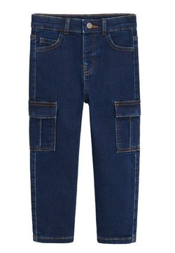 Mango - CARGO-JEANS - Slim fit jeans - dunkelblau