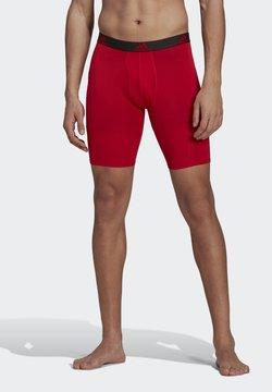 adidas Performance - BRIEF 2 PACK - Panties - black/scarlet