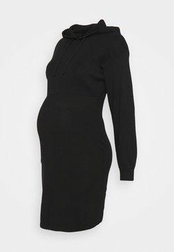 New Look Maternity - HOODED DRESS - Sukienka dzianinowa - black