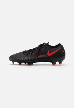 Nike Performance - PHANTOM GT PRO FG - Moulded stud football boots - black/chile red/dark smoke grey