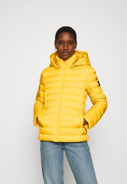 Calvin Klein - COATED ZIP LIGHT JACKET - Daunenjacke - yellow dahlia