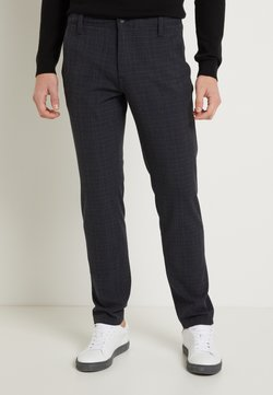 Selected Homme - SLHSLIM STORM FLEX SMART PANTS - Stoffhose - dark sapphire/check