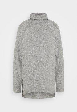 Vero Moda - VMTAMMI HIGH NECK  - Pullover - light grey melange