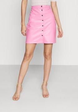 Vila - VIPEN BUTTON COATED SKIRT - Mini skirt - wild rose