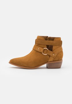 Simply Be - WIDE FIT ASPEN - Ankle Boot - tan