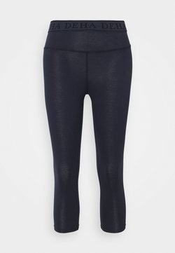 Deha - LEGGINGS 3/4 - Pantalón 3/4 de deporte - night blue