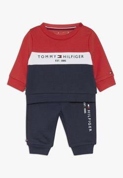Tommy Hilfiger - BABY COLOURBLOCK TRACKSUIT SET - Sweater - blue