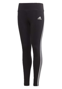 adidas Performance - 3-STRIPES COTTON LEGGINGS - Legginsy - black