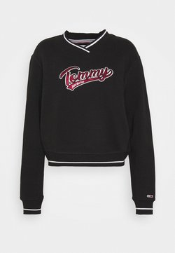 Tommy Jeans - VNECK - Sweatshirt - black