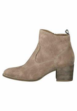 Tamaris - Ankle Boot - taupe nubuc