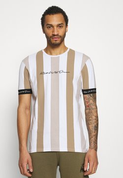 Kings Will Dream - VEDTON STRIPE TEE - T-Shirt print - sand/white