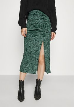 ONLY - ONLJESSY ROUCHING SKIRT - Jupe crayon - balsam green/black