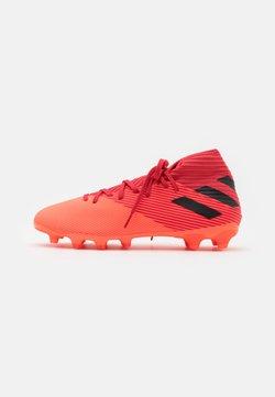 adidas Performance - NEMEZIZ 19.3 FOOTBALL BOOTS MULTI GROUND - Voetbalschoenen met kunststof noppen - signal coral/core black/glow red