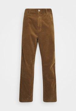 Carhartt WIP - SINGLE KNEE PANT URBANA - Pantalon classique - hamilton brown rinsed