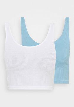 Monki - KEY 2 PACK - Débardeur - blue light/white