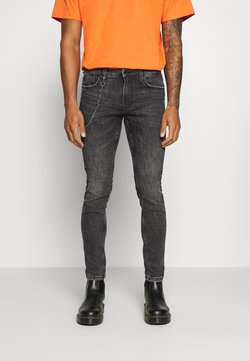 Only & Sons - ONSWARP LIFE  - Jeans Skinny Fit - black denim
