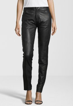 KRISS - Pantalon en cuir - black