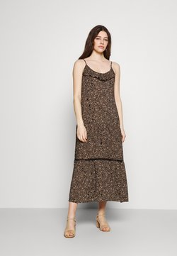 Cotton On - BECKY STRAPPY RUFFLE MAXI DRESS - Maxikleid - black